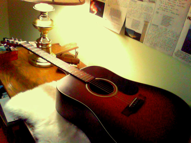 My father's guitar. My guitar.